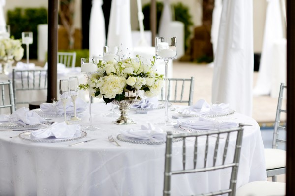 White And Silver Wedding Reception Elizabeth Anne Designs The