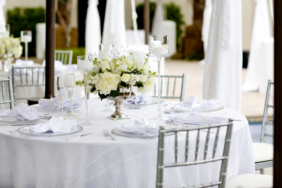 White And Silver Wedding Reception Elizabeth Anne Designs The
