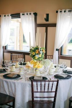 Yellow-Black-and-White-Wedding