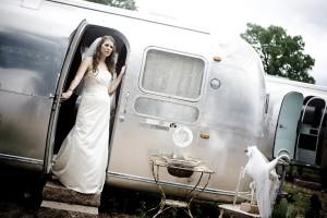 Bride-in-Airstream-Trailer