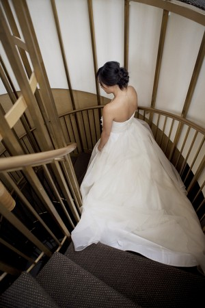 Bride-on-Stairs