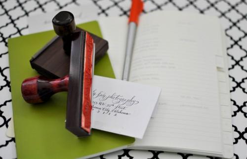 Calligraphy-Address-Stamp