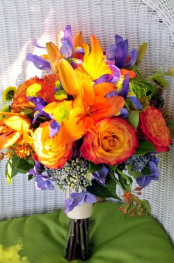 Colorful-Orange-and-Purple-Bouquet