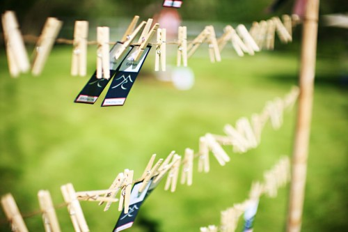 Escort-Cards-on-Clothesline