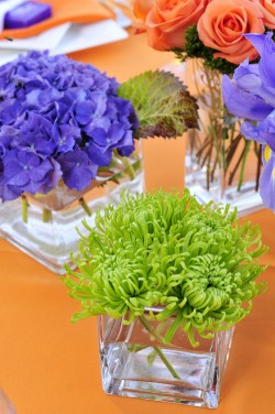 Green-Purple-and-Orange-Centerpieces