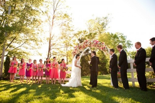 Hot-Pink-Bridesmaid-Dresses