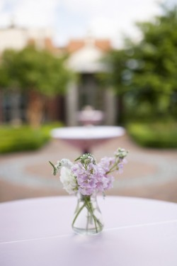 Lavender-Hydrangea-Centerpiece