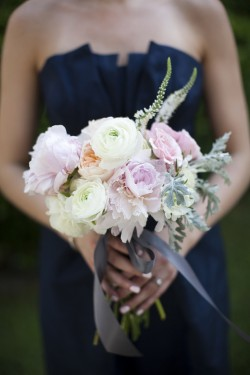 Navy-and-Pink-Peony-Bouquet