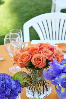 Orange-Rose-Centerpiece