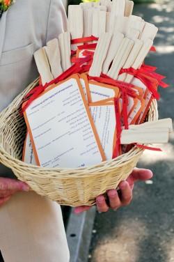Orange-Wedding-Program-Fan