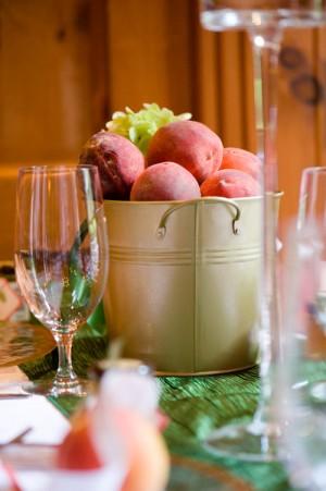 Peach-Bucket-Centerpiece