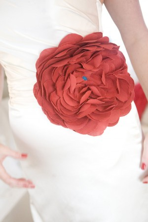 Red-Fabric-Flower-Accent