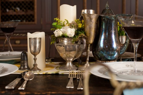 Vintage-Silver-Containers-Centerpiece