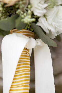 Yellow-and-White-Striped-Ribbon-Bouquet