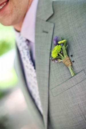 lavender_green_boutonniere