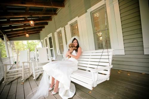 Bride-and-Puppy