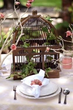 Bronze-Birdcage-Centerpiece