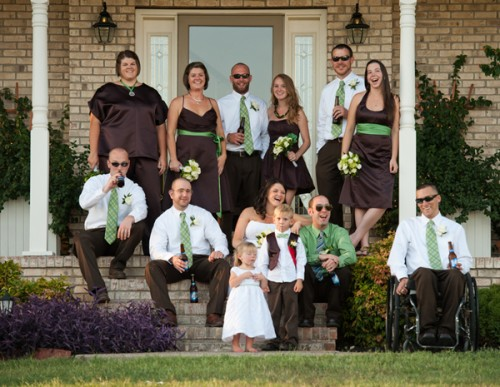 Brown-and-Green-Wedding-Party