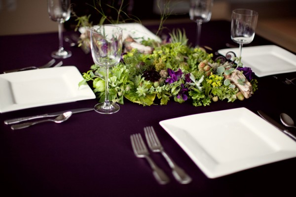 Purple-and-Green-Woodland-Tablescape