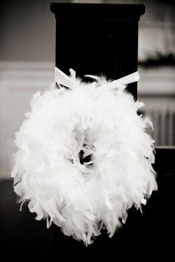White-Feather-Wreath-Aisle-Markers