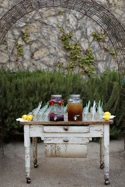 Antique-Beverage-Table