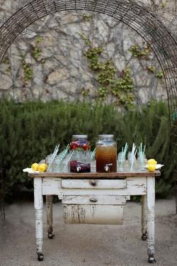 Antique-Beverage-Table