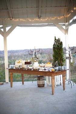 Cake-Dessert-Table-Rustic-Wedding