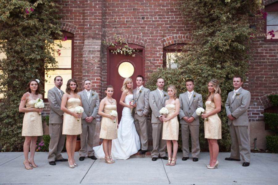 Gold And Gray Wedding Party Elizabeth Anne Designs The Wedding Blog