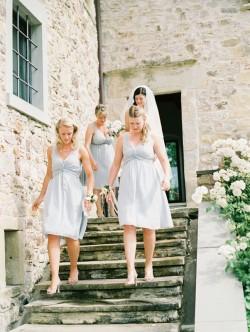 Gray-V-Neck-Bridesmaid-Dresses