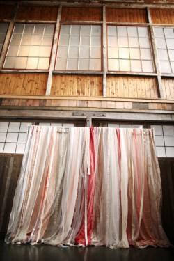 Ribbon-Wedding-Ceremony-Arch