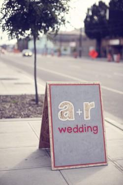 Stencil-Wedding-Sign