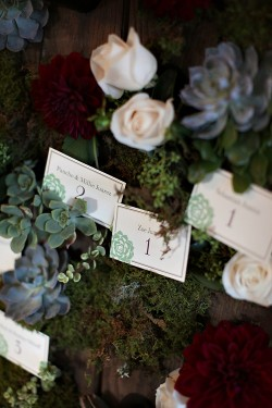 Succulent-and-Rose-Escort-Card