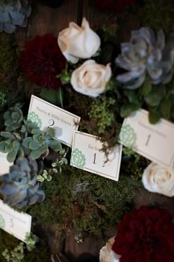 Succulent-and-Rose-Escort-Card