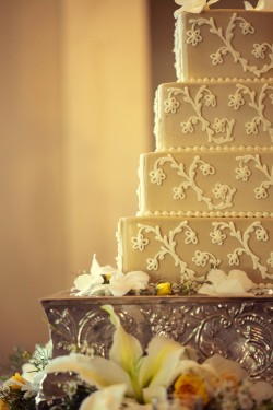 Taupe-and-White-Cake