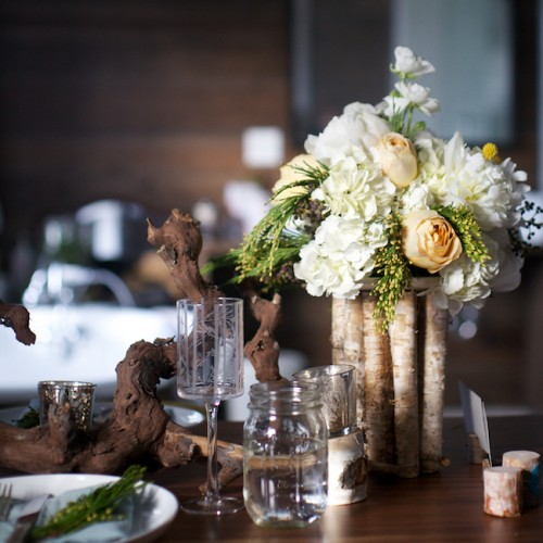 Driftwood centerpieces from politics to the sticks