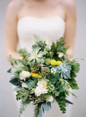 Greenery-and-Succulent-Bouquet