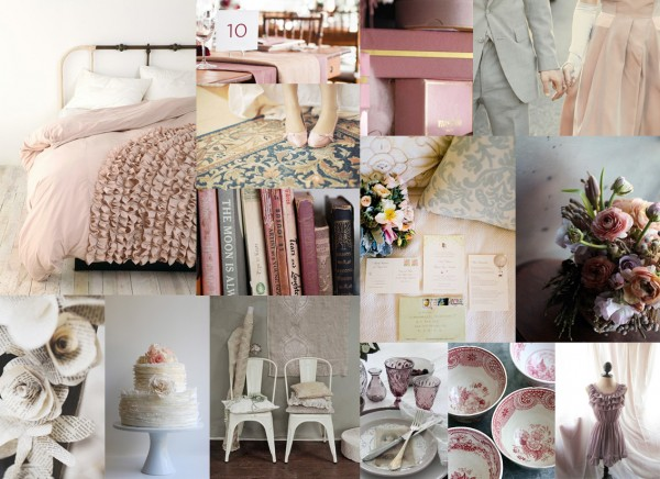 Mauve Dusty Rose And Gray Wedding Inspiration Board