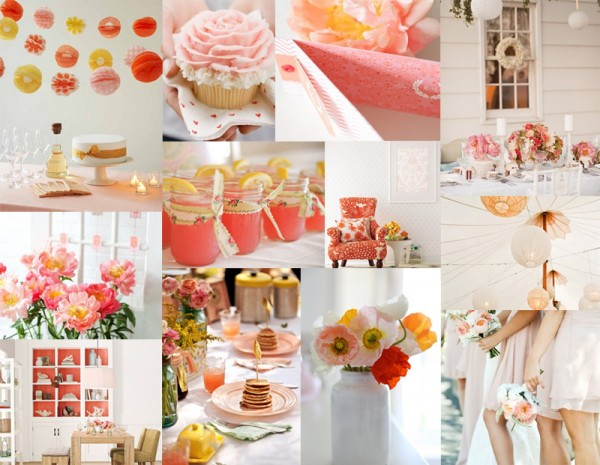 Brunch Wedding Inspiration - Peach Coral and Poppy