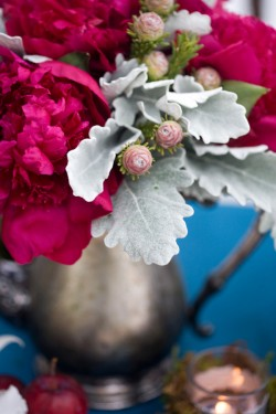 Peony-and-Dusty-Miller-Centerpiece