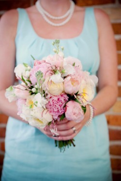 Pink-Peony-Bouquet-Blue-Bridesmaids