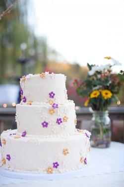 Purple-Buttercream-Flower-Wedding-Cake