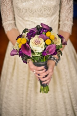 Purple-and-Gray-Bouquet