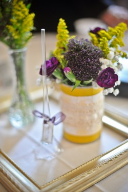 Purple-and-Yellow-Centerpiece