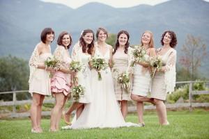 Vintage-Cream-Bridesmaids-Dresses