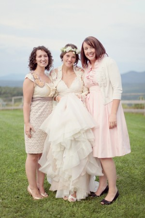 Vintage-Pink-Bridesmaids