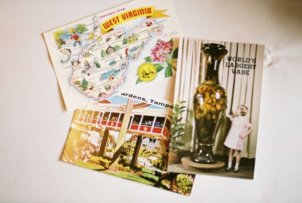 Vintage Postcard Guest Book