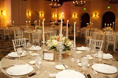 Yellow Champagne Gold Wedding Reception