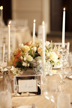 Sea Island Peach Champagne Ballroom Wedding