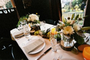 Yellow-and-Green-Rustic-Centerpiece