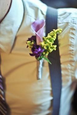 Yellow-and-Purple-Boutonniere